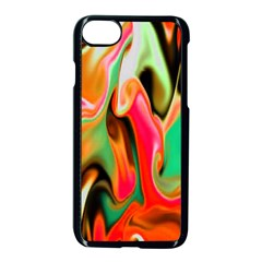 Catch The Waves Smoky Red Orange Haze  Apple Iphone 7 Seamless Case (black)