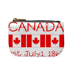 Canada Day Maple Leaf Canadian Flag Pattern Typography  Mini Coin Purses by yoursparklingshop