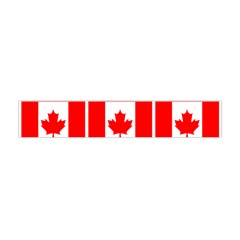 Canada Day Maple Leaf Canadian Flag Pattern Typography  Flano Scarf (mini) by yoursparklingshop