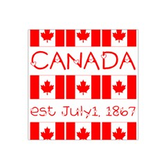 Canada Day Maple Leaf Canadian Flag Pattern Typography  Satin Bandana Scarf by yoursparklingshop