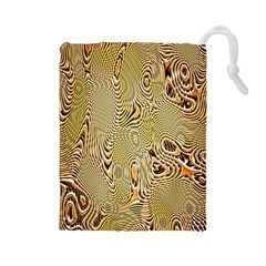 Pattern Abstract Art Drawstring Pouches (large)  by Nexatart