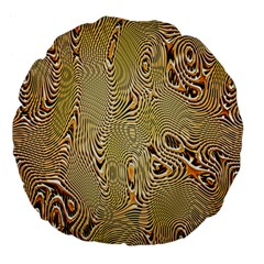 Pattern Abstract Art Large 18  Premium Flano Round Cushions