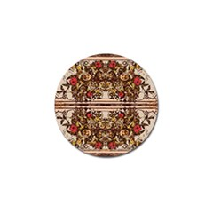 Roses Floral Wallpaper Flower Golf Ball Marker