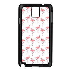 Pink Flamingo Pattern  Samsung Galaxy Note 3 N9005 Case (black) by CrypticFragmentsColors