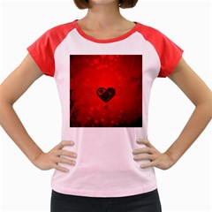 Wonderful Heart On Vintage Background Women s Cap Sleeve T-shirt by FantasyWorld7