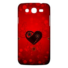 Wonderful Heart On Vintage Background Samsung Galaxy Mega 5 8 I9152 Hardshell Case  by FantasyWorld7