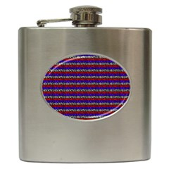 French Revolution Typographic Pattern Design 2 Hip Flask (6 Oz) by dflcprints