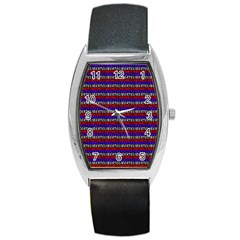French Revolution Typographic Pattern Design 2 Barrel Style Metal Watch by dflcprints