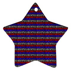 French Revolution Typographic Pattern Design 2 Star Ornament (two Sides) by dflcprints