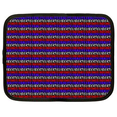 French Revolution Typographic Pattern Design 2 Netbook Case (large) by dflcprints