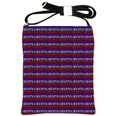 French Revolution Typographic Pattern Design 2 Shoulder Sling Bags by dflcprints
