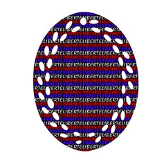 French Revolution Typographic Pattern Design 2 Ornament (oval Filigree) by dflcprints