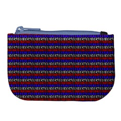 French Revolution Typographic Pattern Design 2 Large Coin Purse by dflcprints