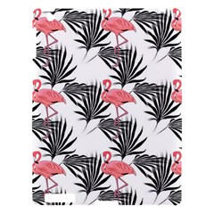 Pink Flamingos Palmetto Fronds Tropical Pattern Apple Ipad 3/4 Hardshell Case by CrypticFragmentsColors