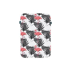 Pink Flamingos Palmetto Fronds Tropical Pattern Apple Ipad Mini Protective Soft Cases by CrypticFragmentsColors