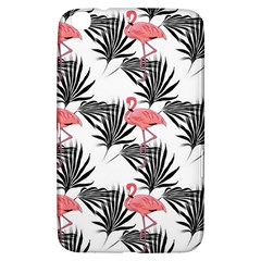 Pink Flamingos Palmetto Fronds Tropical Pattern Samsung Galaxy Tab 3 (8 ) T3100 Hardshell Case  by CrypticFragmentsColors