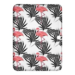 Pink Flamingos Palmetto Fronds Tropical Pattern Samsung Galaxy Tab 4 (10 1 ) Hardshell Case  by CrypticFragmentsColors