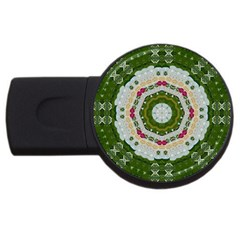Fantasy Jasmine Paradise Love Mandala Usb Flash Drive Round (4 Gb)