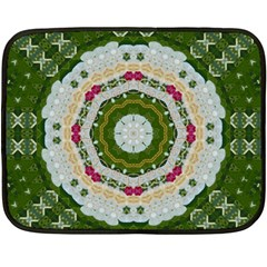 Fantasy Jasmine Paradise Love Mandala Fleece Blanket (mini) by pepitasart