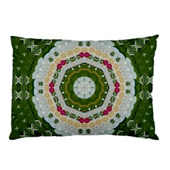 Fantasy Jasmine Paradise Love Mandala Pillow Case (two Sides) by pepitasart