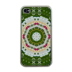 Fantasy Jasmine Paradise Love Mandala Apple Iphone 4 Case (clear) by pepitasart