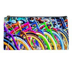 Colorful Bicycles In A Row Pencil Cases by FunnyCow