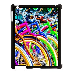 Colorful Bicycles In A Row Apple Ipad 3/4 Case (black) by FunnyCow