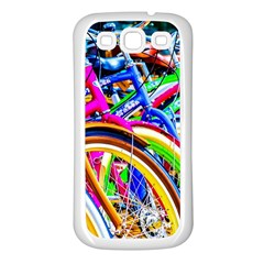 Colorful Bicycles In A Row Samsung Galaxy S3 Back Case (white) by FunnyCow