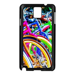 Colorful Bicycles In A Row Samsung Galaxy Note 3 N9005 Case (black) by FunnyCow