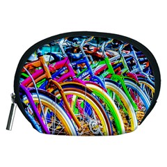 Colorful Bicycles In A Row Accessory Pouches (medium)  by FunnyCow