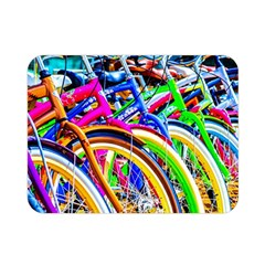 Colorful Bicycles In A Row Double Sided Flano Blanket (mini)  by FunnyCow