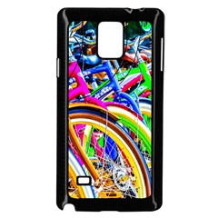 Colorful Bicycles In A Row Samsung Galaxy Note 4 Case (black) by FunnyCow