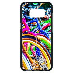 Colorful Bicycles In A Row Samsung Galaxy S8 Black Seamless Case by FunnyCow