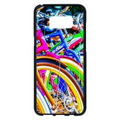 Colorful Bicycles In A Row Samsung Galaxy S8 Plus Black Seamless Case by FunnyCow