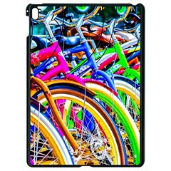 Colorful Bicycles In A Row Apple Ipad Pro 9 7   Black Seamless Case