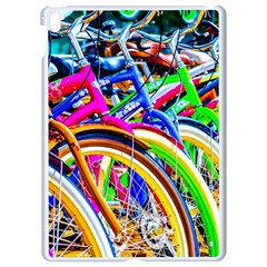 Colorful Bicycles In A Row Apple Ipad Pro 9 7   White Seamless Case by FunnyCow