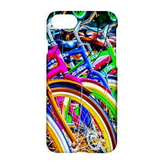 Colorful Bicycles In A Row Apple Iphone 8 Hardshell Case by FunnyCow