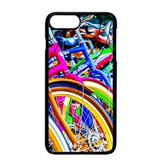 Colorful Bicycles In A Row Apple Iphone 8 Plus Seamless Case (black) by FunnyCow