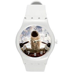 Legend Of The Sky Round Plastic Sport Watch (m) by FunnyCow