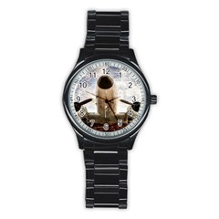 Legend Of The Sky Stainless Steel Round Watch by FunnyCow