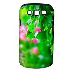 Green Birch Leaves, Pink Flowers Samsung Galaxy S Iii Classic Hardshell Case (pc+silicone) by FunnyCow