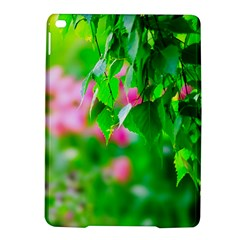 Green Birch Leaves, Pink Flowers Ipad Air 2 Hardshell Cases by FunnyCow