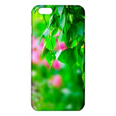 Green Birch Leaves, Pink Flowers Iphone 6 Plus/6s Plus Tpu Case by FunnyCow