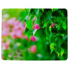 Green Birch Leaves, Pink Flowers Jigsaw Puzzle Photo Stand (rectangular) by FunnyCow