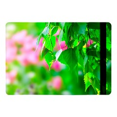 Green Birch Leaves, Pink Flowers Apple Ipad Pro 10 5   Flip Case by FunnyCow