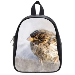 Funny Wet Sparrow Bird School Bag (small) by FunnyCow