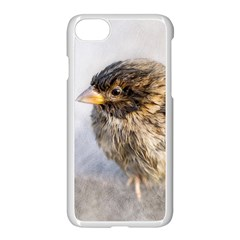 Funny Wet Sparrow Bird Apple Iphone 8 Seamless Case (white) by FunnyCow