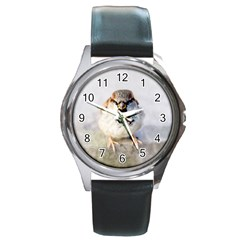 Do Not Mess With Sparrows Round Metal Watch by FunnyCow