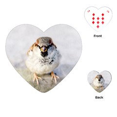 Do Not Mess With Sparrows Playing Cards (heart)  by FunnyCow