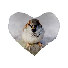 Do Not Mess With Sparrows Standard 16  Premium Flano Heart Shape Cushions by FunnyCow